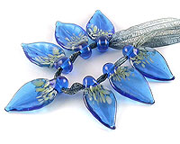 lampwork glass leaves