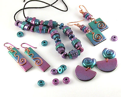 Craft Ideas Jewellery on Polymer Clay Anodized Look Beads   Free Project From Ejr Beads Uk