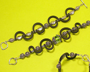 Sterling silver and PVC bracelet -  tutorial by Emma Ralph