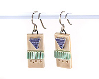 ceramic clay earrings