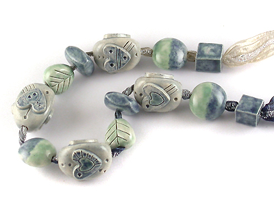 glazed ceramic beads by emma ralph
