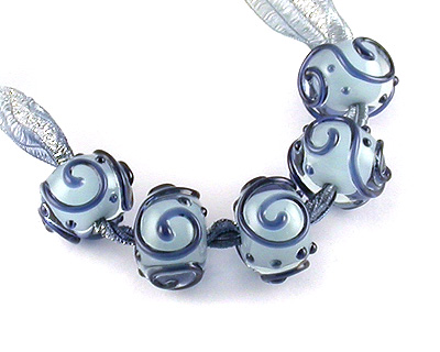 lampwork glass scroller beads