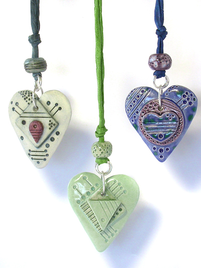 handmade ceramic clay pendants by Emma Ralph