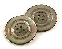 Large Round Grey Mother of Pearl Buttons