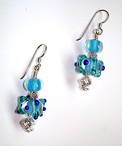 Pool Earrings by Jean Yates