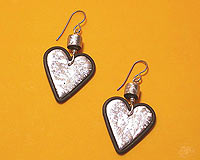 Use the EJR Beads easy transfer Holographic foils to make these earrings!