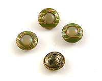 Small Brass & Celluloid with Green Detailing