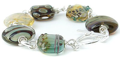 lampwork and sterling bead jewellery