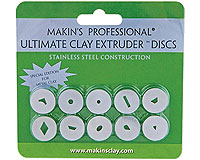 Makins Ultimate Extruder Discs - Stainless Steel for Metal Clay